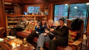 People enjoying wine and relaxing during our Wiking Hike Trips.