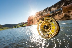 Fishing Rod and Reel casting in the Rogue River