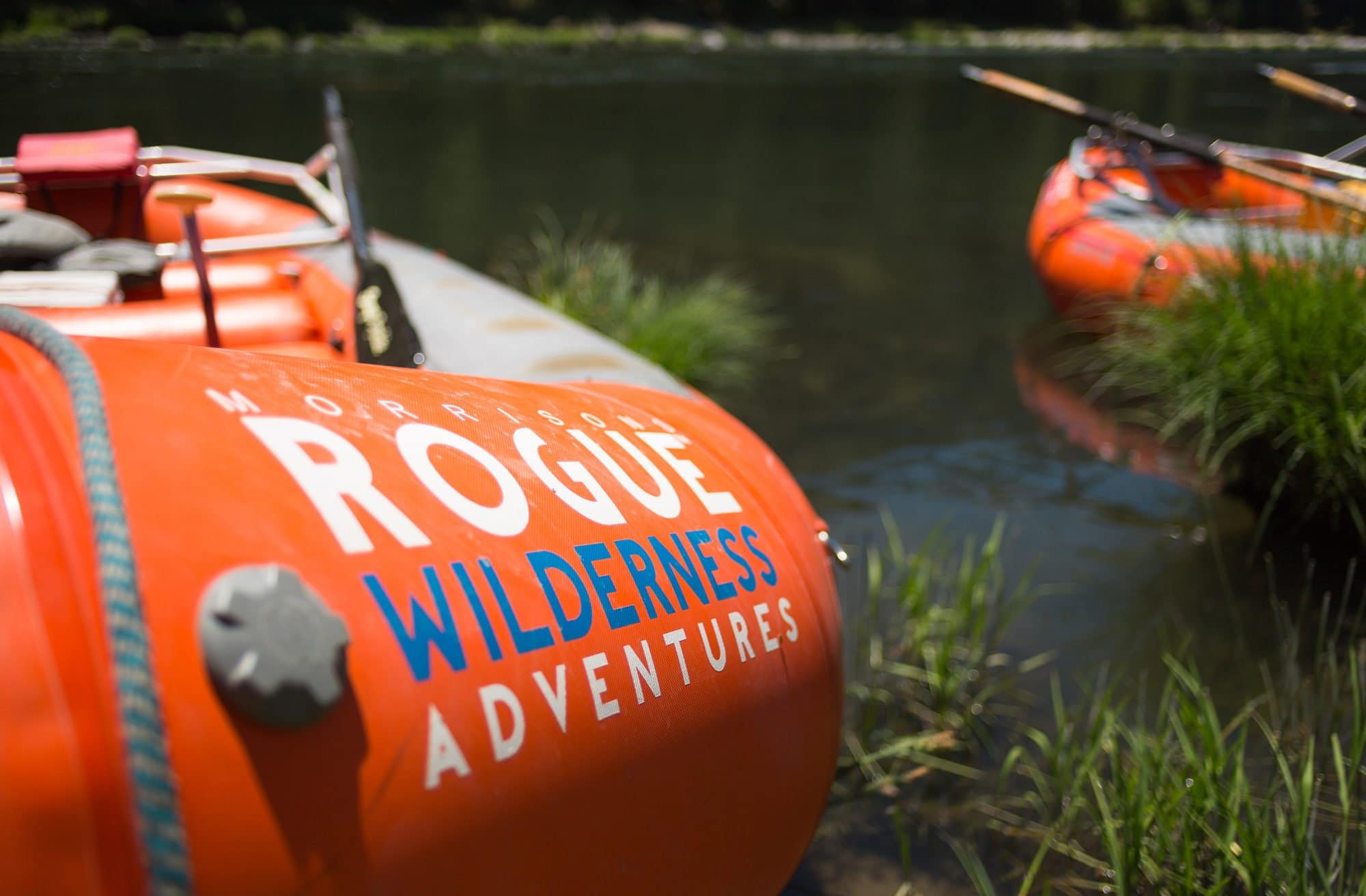 Picture of our rafts at Morrisons Rogue Wilderness Adventures