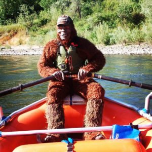 Big Foot rafting down the Rogue River