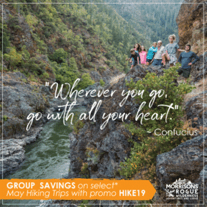 Group savings on May trips with promo Hiking 19