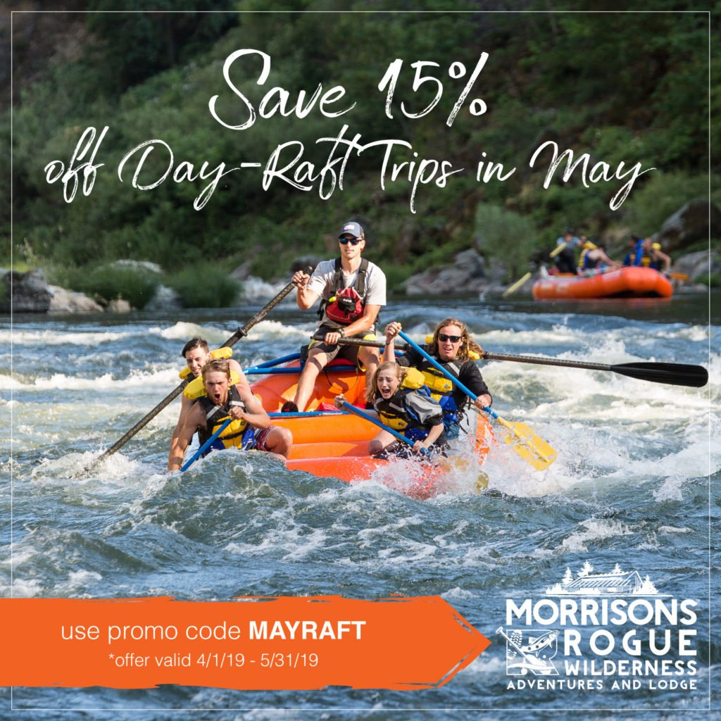 Save 15% on May Raft Trips with promo code