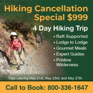 Pay Only $999 a person on 4-Day Hiking Trips